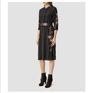 AllSaints Volta Saloon Dress- perfect for FALL!